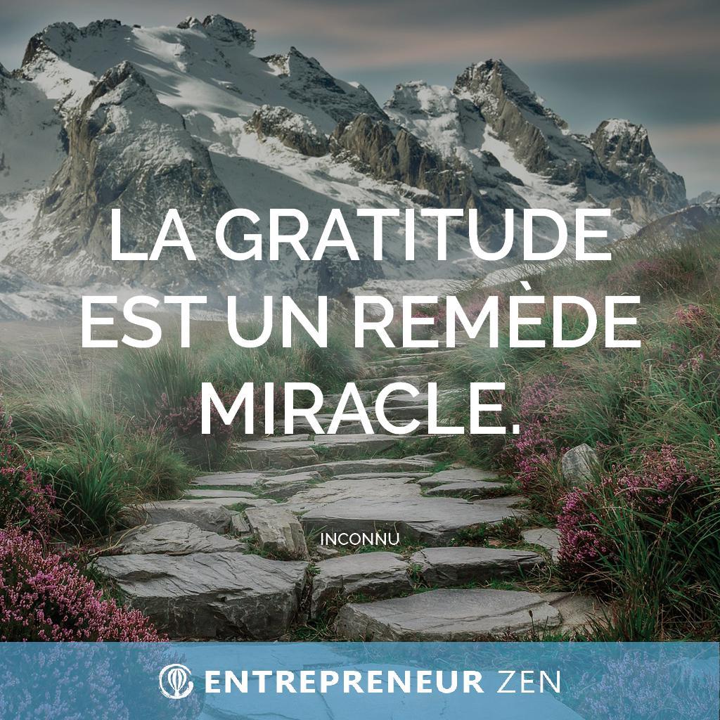 La gratitude est un remède miracle