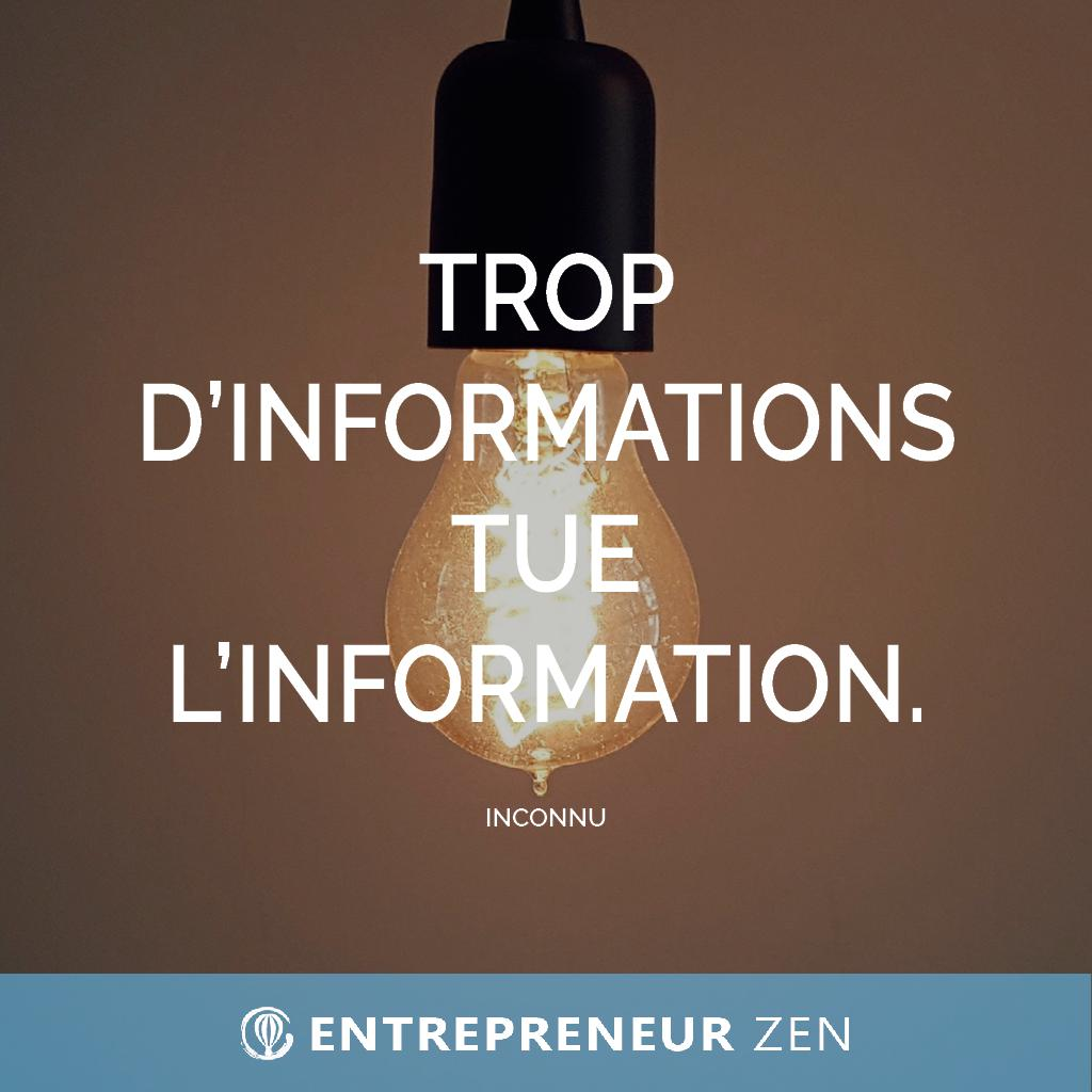 Trop d'informations tue l'information