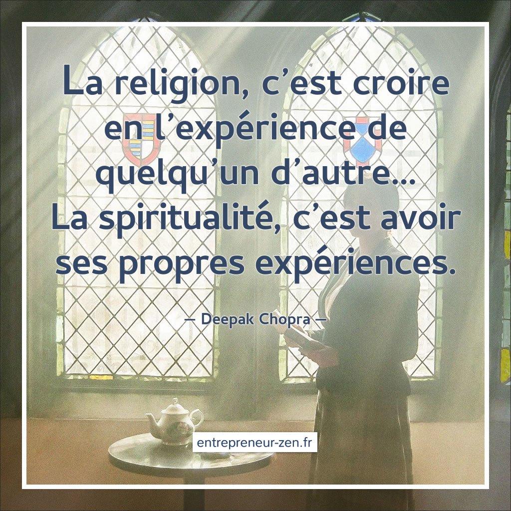Spiritualité ou religion ?