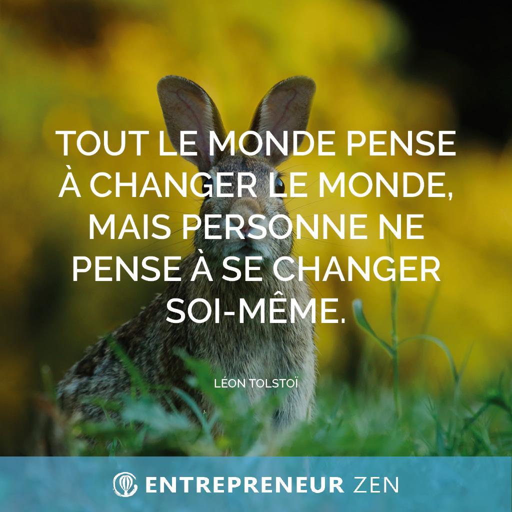 Tout le monde pense à changer le monde, mais personne ne pense à se changer soi-même - Léon Tolstoï