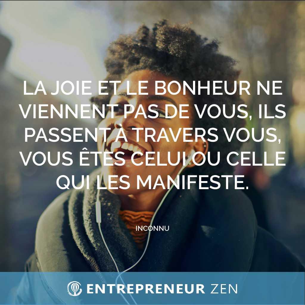 La joie et le bonheur ne viennent pas de vous, ils passent à travers vous, vous êtes celui ou celle qui les manifeste - Pascal Spiler