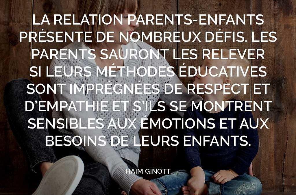 Que transmettre à nos enfants ?