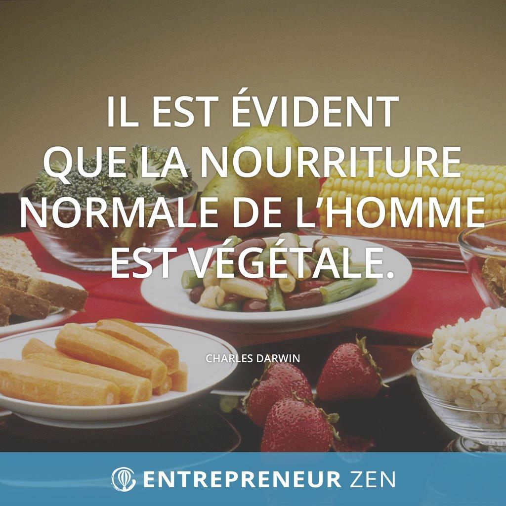 Il est évident que la nourriture normale de l'homme est végétale - Charles Darwin