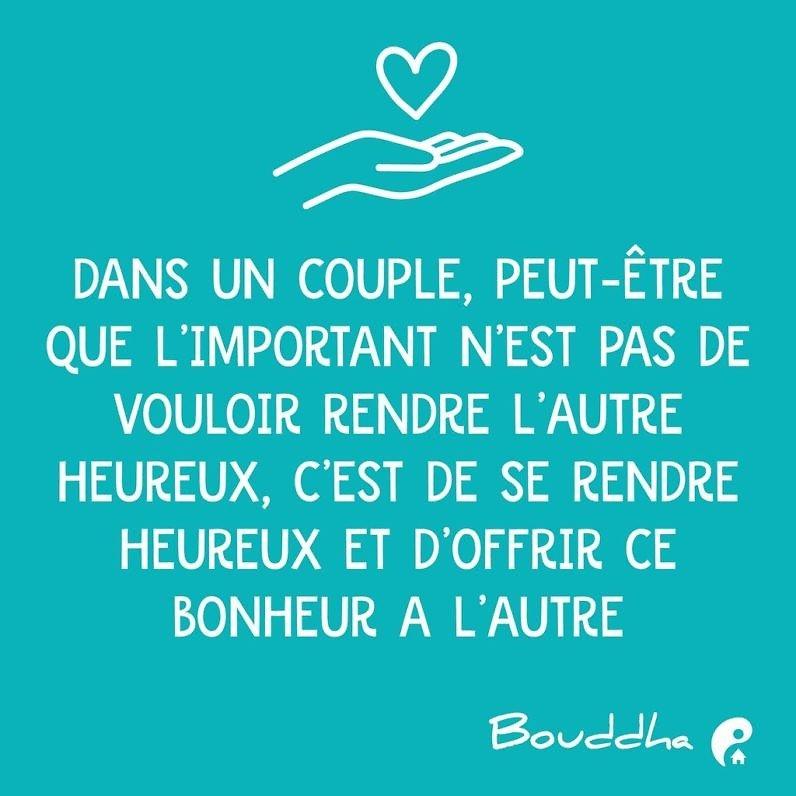 Dans un couple, peut-être que l'important n'est pas de vouloir rendre l'autre heureux, c'est de se rendre heureux et d'offrir ce bonheur à l'autre. (Jacques Salomé)