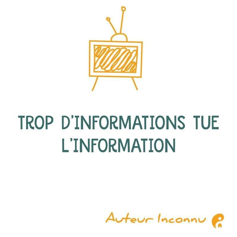 Trop d'informations tue l'information.